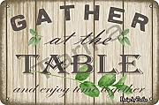 Gather at the Table Tin 20 x 30 cm Vintage Look