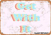 Get With It Retro Look 20 x 30 cm Targa decorativa