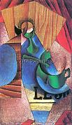 GLASS CUP AND NEWSPAPER BY JUAN GRIS ARTISTA