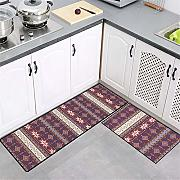GOODJIA Carpet 2PCS Lavabile Antiscivolo Tappetino