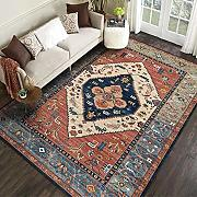 GOODJIA Carpet Tappeto Shaggy Retro Designer