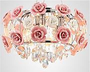 Lampadario Rosa Cristallo : Stai cercando lampadari a fiore rosa lionshome