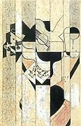 GUITAR AND GLASS BY JUAN GRIS ARTISTA QUADRO