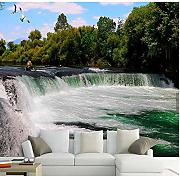 Guyuell 3D Waterfalls Wallpaper Fotomurale Carta