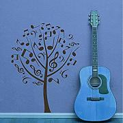 Guyuell  Wall Stickers Home Decor Musica Wall