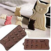 Gwill Cat Kitten 7 Cavity - Stampo in silicone per