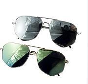 2913-2 Occhiali da sole metallo, Colori assortiti UV400 2 Paia per confezione