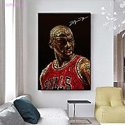 HD Canvas Poster Print Basketball Player Michael