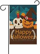 hengpai Scary Night Garden Flag House banner