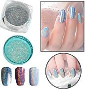 Hkfv Superb Amazing creative Charming Fashion Mirror design attraente donna colore argento effetto specchio, colore cromato Nails pigmento gel Polish DIY, Color C