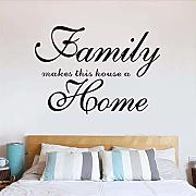 Home Garden Famiglia Wall Art Quote Wall Sticker
