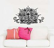 Home Room Decor adesivo da parete Yoga Lotus