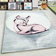 100/% Polipropilene Motivo Tartaruga Grigio Blu m/élange Blu 80 x 150 cm Tappeto a Pelo Corto per cameretta Bambini HomebyHome