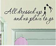 Homemay PVC Wall Stickers English all Dressed