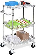 Honey-Can-Do CRT-01451 Carrello Urban a 3 Ripiani, Metallo, Finiture Cromate, 25.4x48.26x63.5 cm
