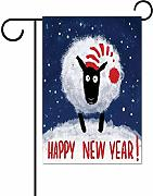 hongwei Happy New Year with Funny Sheep Snowy