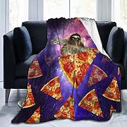 huatongxin Sloth Galaxy Travel On Pizza Coperta in