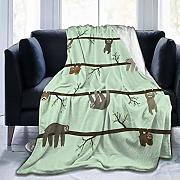 huatongxin Sloths Coperta in Flanella in Pile -