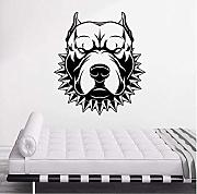 Hutianyu Adesivo Murale Angry Dog For Room In Pvc
