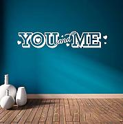 Hwhz 13 X 70 Cm You And Me Vinyl Decalcomanie Da