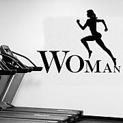 Hwhz 43X56 Cm Running Women Decorative Sticker