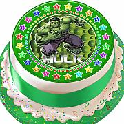 Incredible Hulk Green Star Border Birthday
