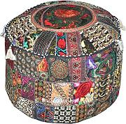 Indian Patchwork Pouf Cover Indian Living Room