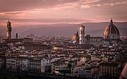 Inspired Walls Florence Sunset Old City Italia
