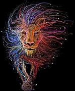 Inspired Walls Lion Abstract Trippy Art Giant