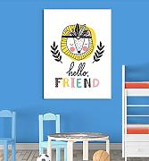 Inspired Walls Lion Hello Friend cute Animal