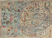 Inspired Walls Mappa Antica Europa Giant