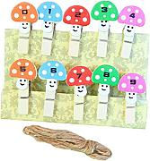 Itemer 10PCS Wooden photo clip Craft carta