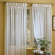 IYUEGOU Linen White Solid Sheer Curtains Double
