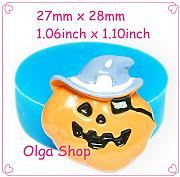 j129 Stampo Fimo Stampo silicone Halloween zucca
