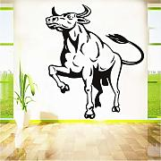 Jasonding Arrogance Bull Wall Stickers Moda
