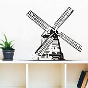 Jasonding Kids Creative Wind Mill Wall Sticker