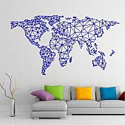 Jasonding Mappa Del Mondo Wall Sticker Home