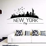 Jasonding  New York Wall Stickers Camera Da Letto