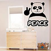 Jasonding Peace Panda Wall Sticker Home Decoration