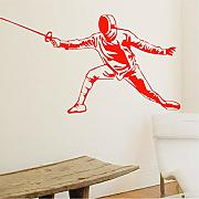 Jasonding Swordsman Fencer Wall Stickers Per