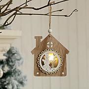 30 Pezzi di Ornamento per Albero di Natale in Argento Palla a Stella Sospesa e Ciondoli a Forma di Cono di Pino Valery Madelyn Decorazioni Albero di Natale in Legno