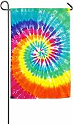 jiaxingdalin Tie Dye Print Welcome Holiday Yard