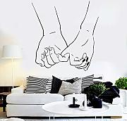 jiuyaomai Love Couple Hands Vinile Adesivo Fashion
