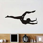 Jixiaosheng Sport Girl Gymnast Yoga Wall Stickers