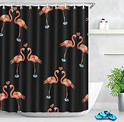 JJJHJ Abstract Flamingo Water Shower Curtain Cuore