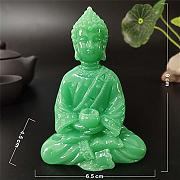 JJJJD Glowing Meditation Buddha Statua Made Giada