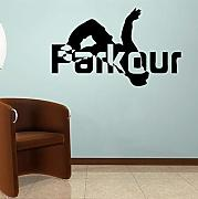 Jumper Vinile Adesivo Parkour Design Wall Sticker