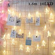juqilu LED Photo Clip String Light, Luci a LED a