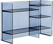 Kartell, Sound-Rack, Mobile Contenitore, Blu, 26 x