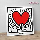 "Keith Haring ""Figures with Heart"" Stampa"